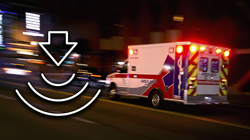 EMS Ambulance with Connectivity Icon